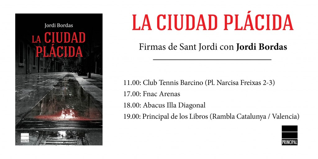 Sant Jordi Principal de los Libros literatura novelas firmas #SantJordi